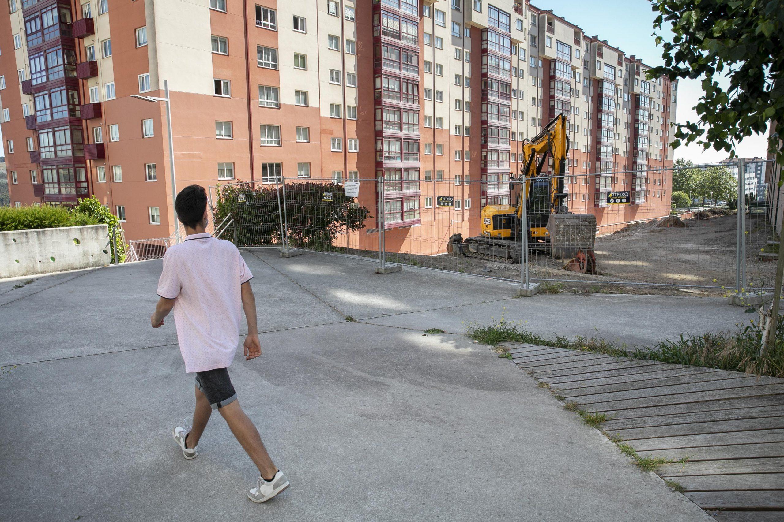 Obras del corredor verde de Novo Mesoiro en A Coruña