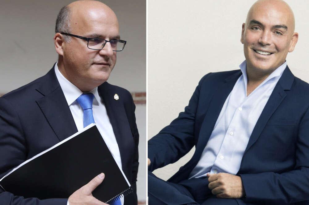 Manuel Baltar, presidente de la Deputación de Ourense, y Kike Sarasola
