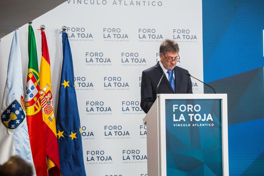 Amancio López durante el foro Vínculo Atlántico que organiza en A Toxa