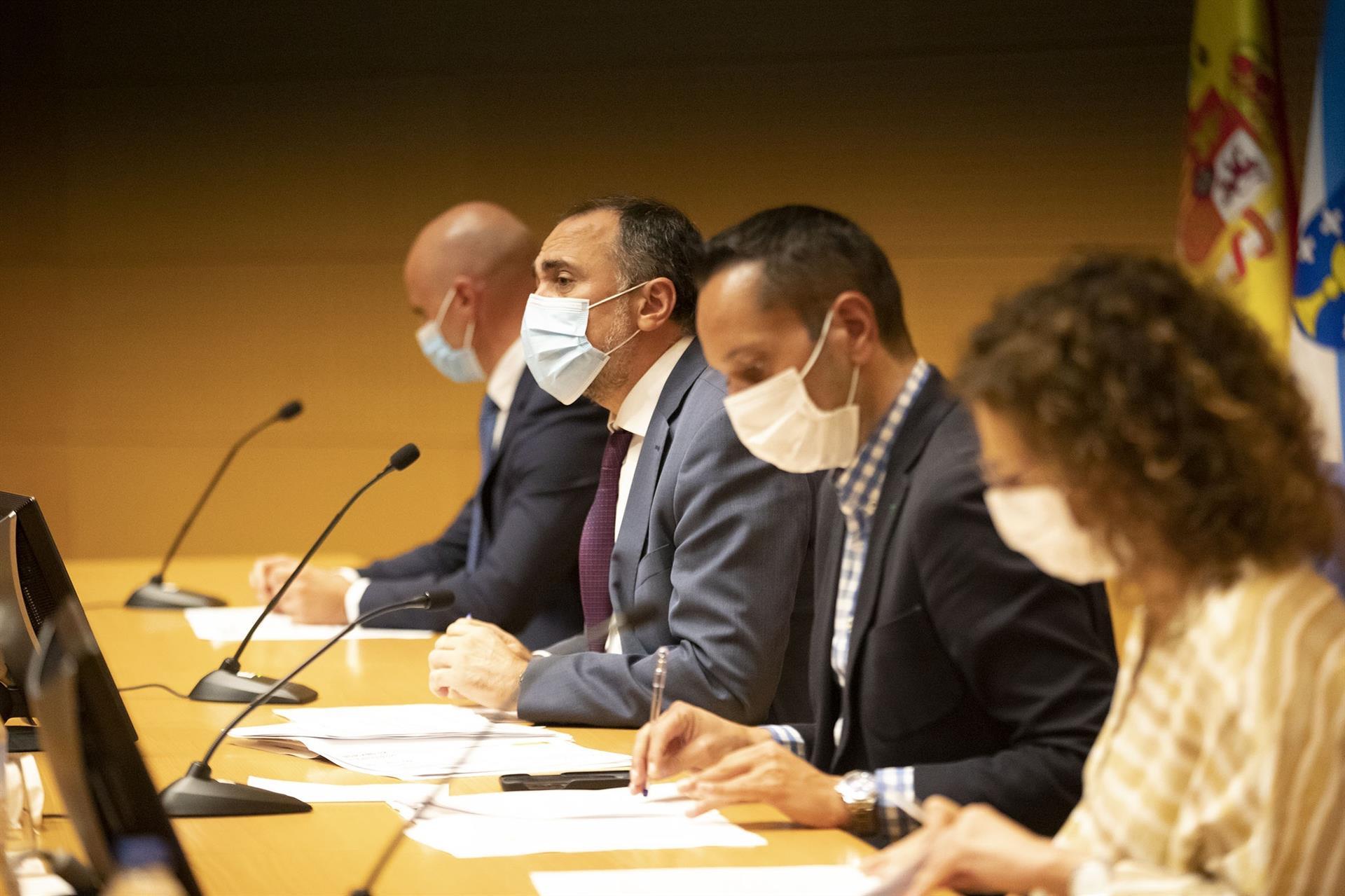 Rueda de prensa posterior a la reunión del comité clínico que asesora a la Xunta en la pandemia de Covid-19. - ANA VARELA