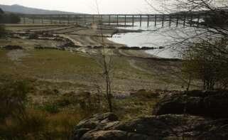 Vista general sobre el estado del embalse de Salas en la cuenca Miño-Sil - Rosa Veiga -