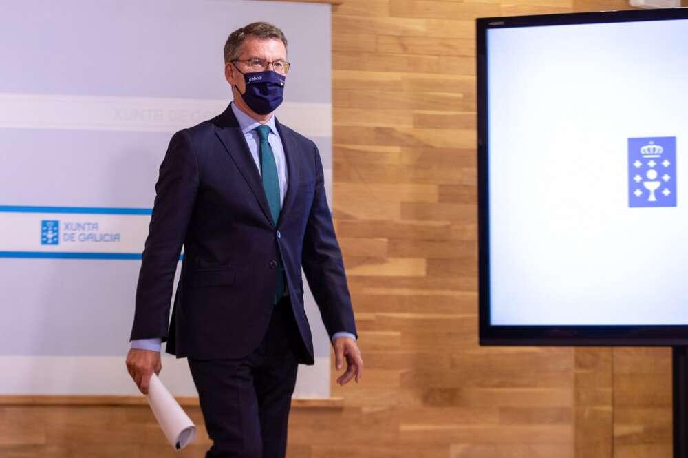 El presidente de la Xunta, Alberto Núñez Feijóo. XUNTA / ANA VARELA