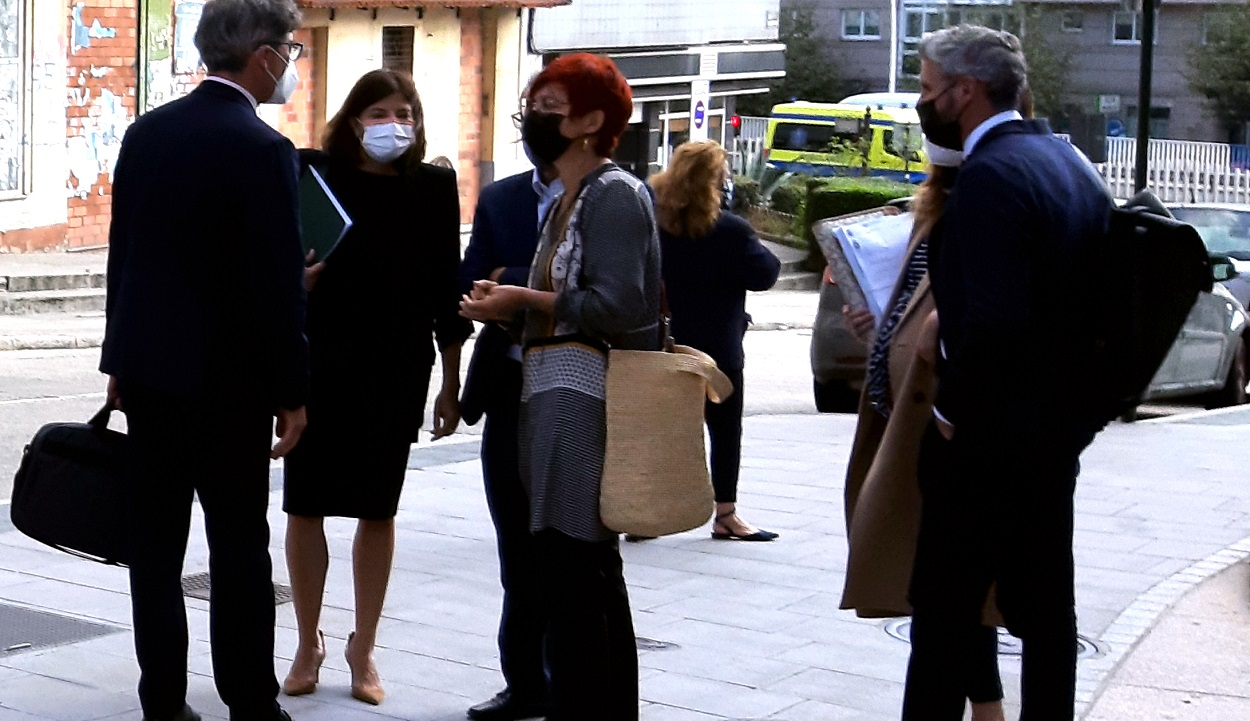 Sandra Ortega a su salida de los juzgados de A Coruña. Foto: Economía Digital Galicia