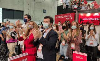 Gonzalo Caballero durante el congreso del PSOE en Valencia / PSdeG