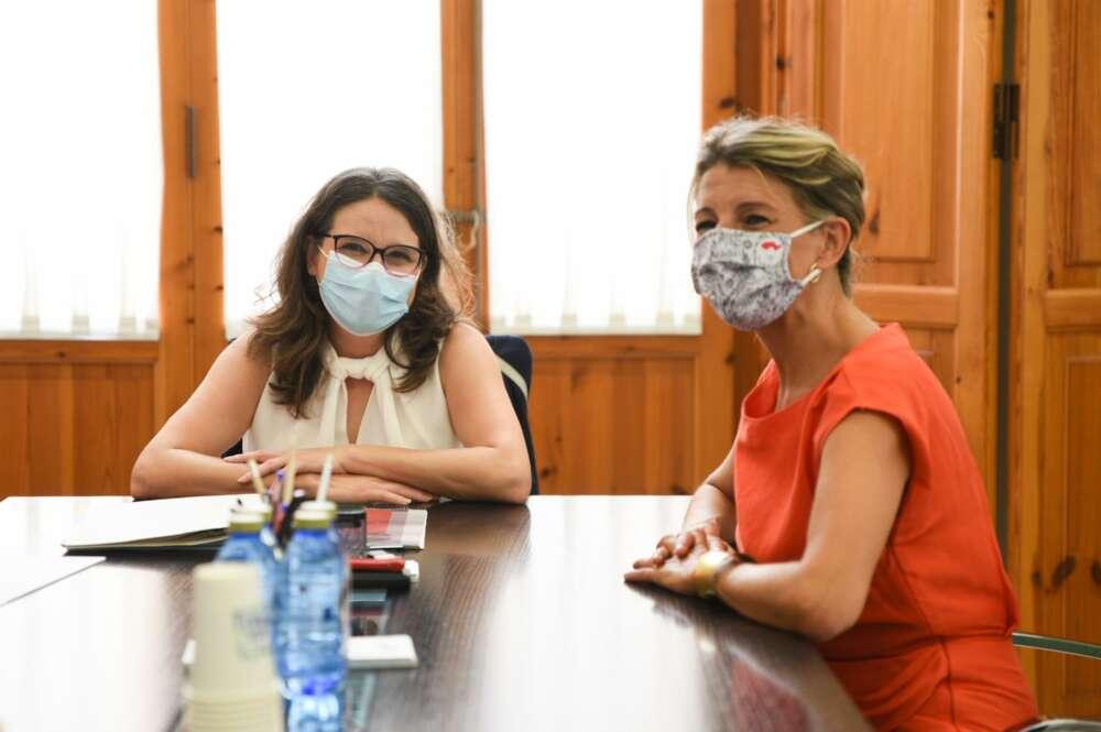 Yolanda Díaz se reúne con Oltra, Colau y el partido de Errejón en plena construcción de su nuevo proyecto político