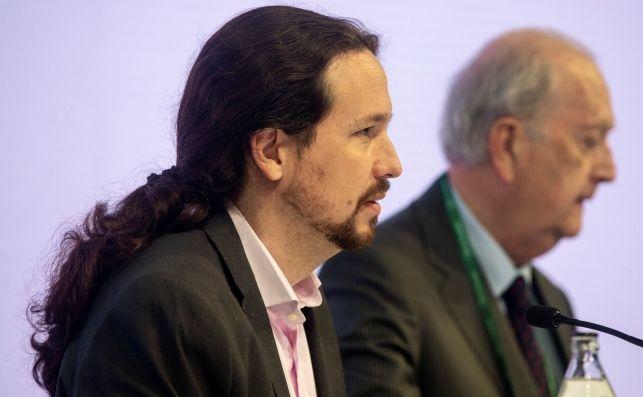 El secretario general de Podemos, Pablo Iglesias, en la segunda jornada de la Reunión del Círculo de Economía de Sitges. Foto: EFE/QG