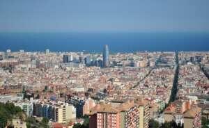 barcelona mediterranean sea sky port water landscape glories 604211