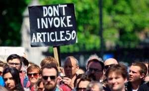 brexit manifestantes contra el arti culo 50 77767