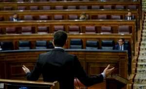 El presidente del Gobierno, Pedro Sánchez, al explicar en el Congreso su plan de desconfinamiento criticado por la oposición y algunas autonomías | EFE/Archivo