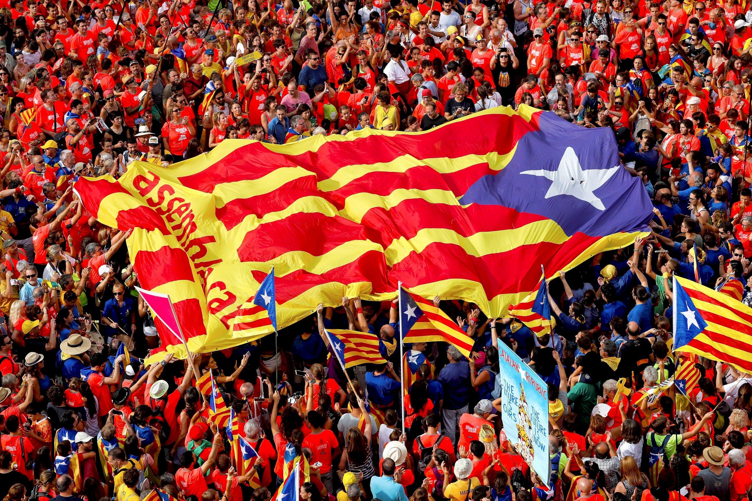 Imagen de una manifestación independentista. EFE/Enric Fontcuberta