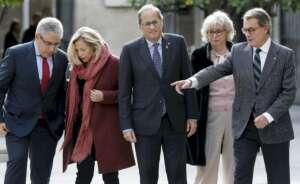 el presidente catalan quim torra ha recibido hoy en el palau de la generalitat a