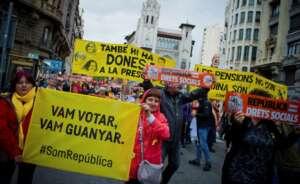 manifestacion convocada por anc coincidiendo con el 1 de mayo
