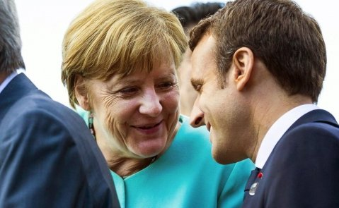 Angela Merkel y Emmanuel Macron reactivan el eje franco-aleman, pero deberá reforzarse y reactivar la UE a dos velocidades. EFE-AC