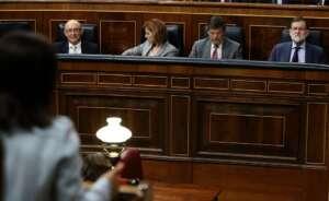 rajoy comparece en la sesion de control al gobierno junto a sus ministros