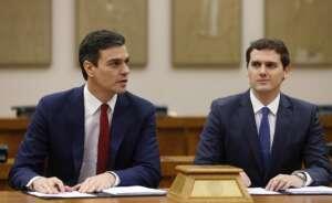 sanchez y rivera durante las negociaciones que trataron de impulsar al socialist 2