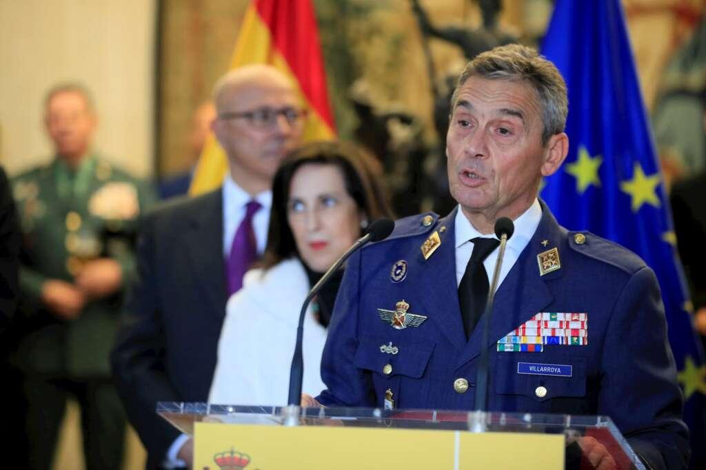 El jefe del Estado Mayor de la Defensa (Jemad), general Miguel Ángel Villaroya, el 17 de enero de 2021 en un acto en Madrid 1 EFE/FA/Archivo
