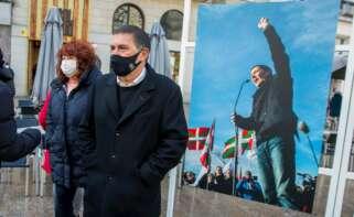 El coordinador general de EH Bildu, Arnaldo Otegi, ineterviene en un acto político en Vitoria el 20 de marzo de 2021 | EFE/DA/Archivo