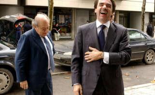 Jordi Pujol y José María Aznar en Barcelona, en octubre de 2002 | EFE/TA/Archivo