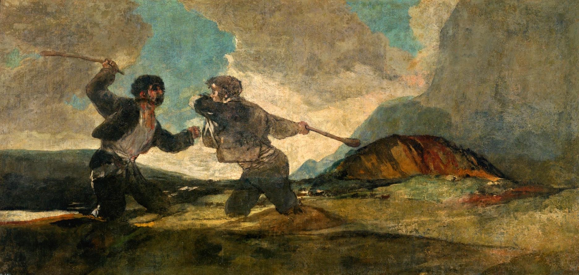 'Duelo a garrotazos', de Francisco de Goya