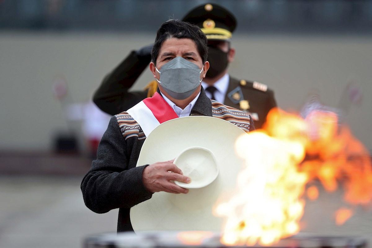 El presidente de Perú, Pedro Castillo. EFE
