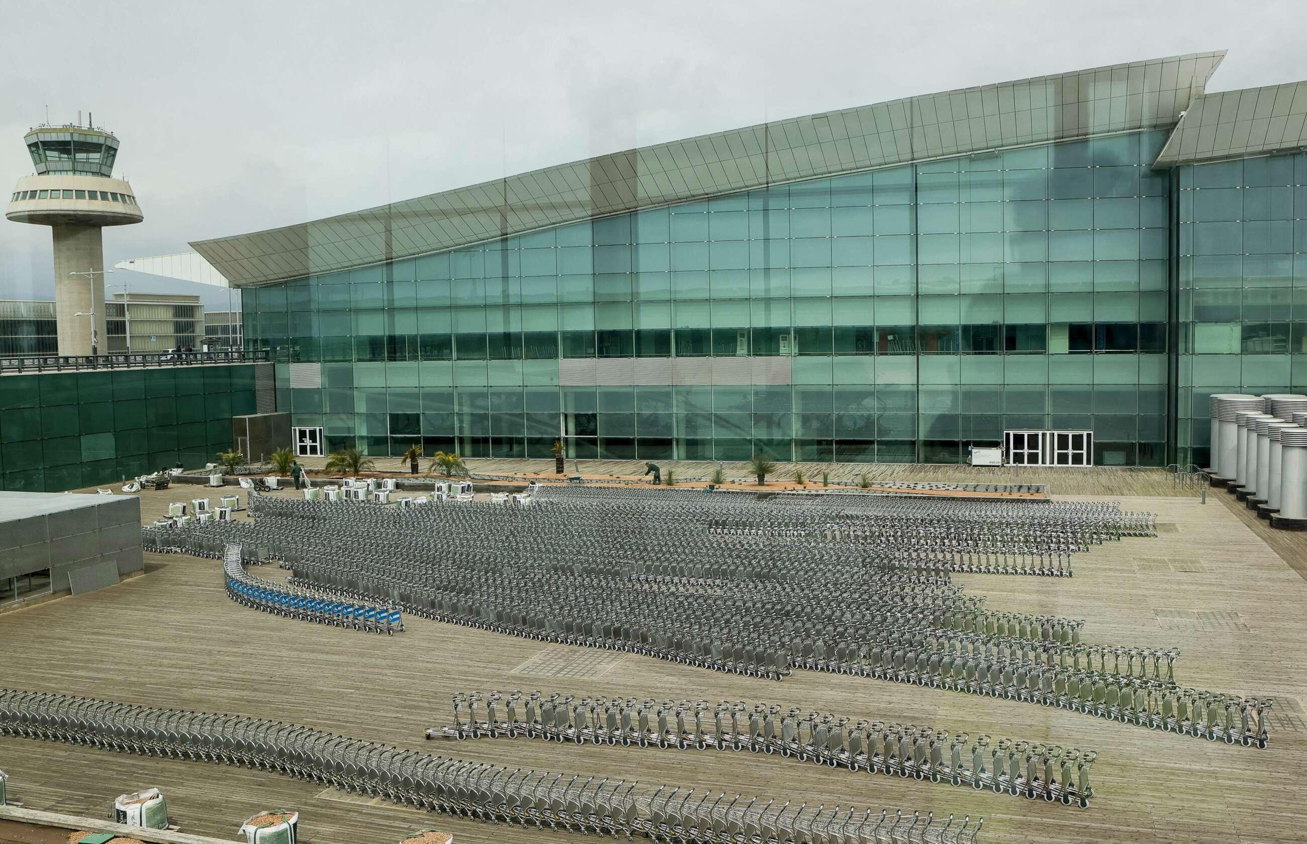 Obras del Dique Sur del aeropuerto de Barcelona