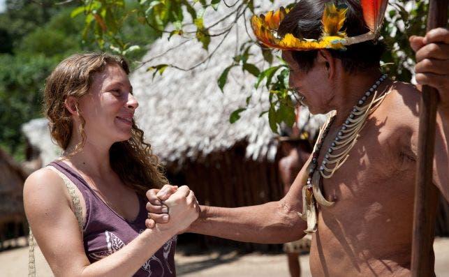 Turista en la Comunidad Nativa Bora de San Andrés © Alex Bryce / PromPerú