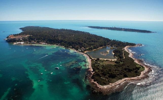 Las islas Lérins, frente a Cannes. Foto: Semec-Dervaux