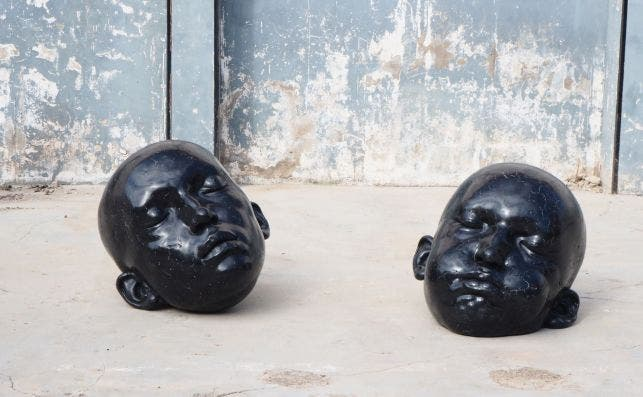 3 PUNTS GALERIA SAMUEL SALCEDO Black Mirrors Series epoxy resin 70x70x80 2019