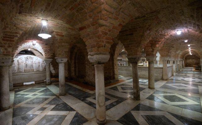 Cripta de la Basílica de San Marcos. Foto: EFE.