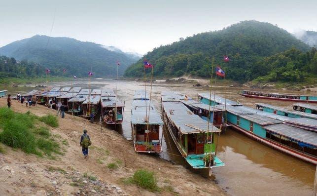 Cruise boats en Laos