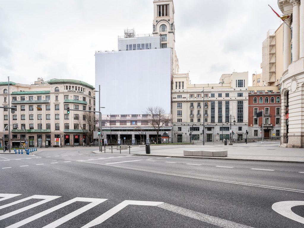 Madrid vacía de coches, gente, vida. Foto: Eduardo Nave-PhotoEspaña