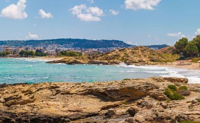 A pocos minutos de Chania encontramos increíbles playas. Foto diego Herranz.