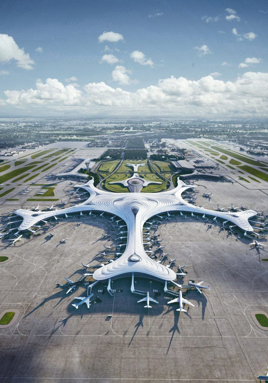 Aeropuerto Internacional de Harbin. Foto MAD Architects.