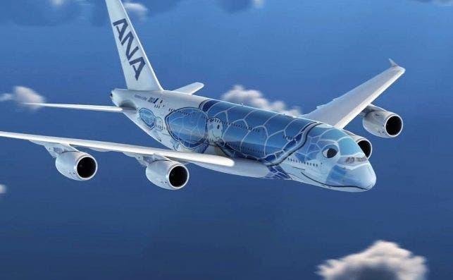 Los A380 de ANA se presentan como tortugas marinas voladoras.