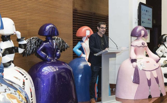 Antonio Azzato presentacioÌn. Foto Meninas Madrid Gallery.