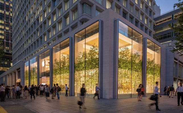 Apple Marunouchi, Tokio. Foto Foster Partners.