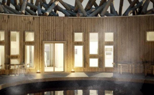 Arctic Bath piscina central.
