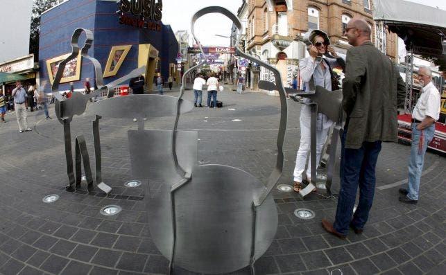 Beatles Platz en Hamburgo. Foto EFE.
