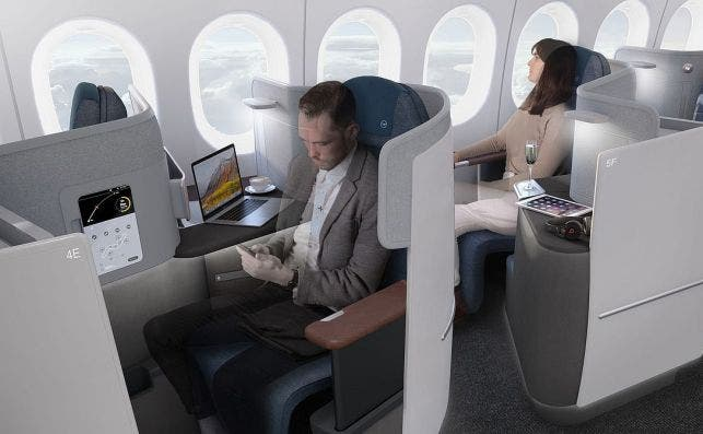 La nueva clase business plantea que todas las plazas tengan salida al pasillo. Foto: Lufthansa