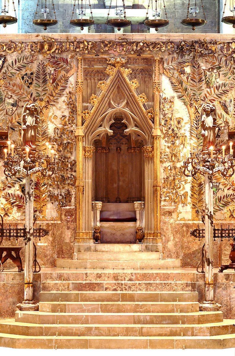 Cátedra en La Seu de Mallorca. Foto: Catedral de Mallorca.