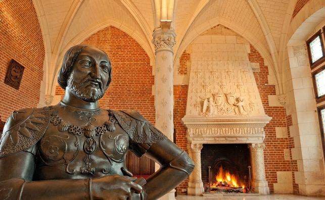 Château royal Amboise  Buste Francois1er ©LdeSerres