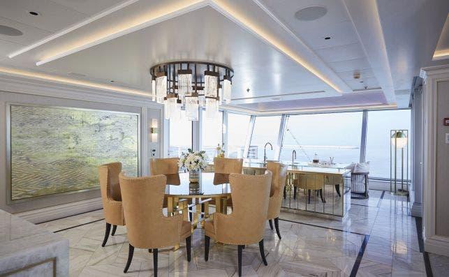 Comedor de la Regent Suite. Foto Regent Seven Seas Cruises