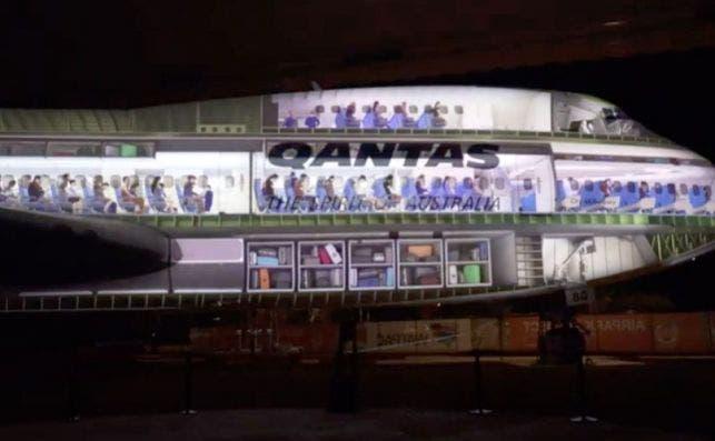 Â¿Como se ve un Jumbo por dentro . Foto Qantas Founders Museum