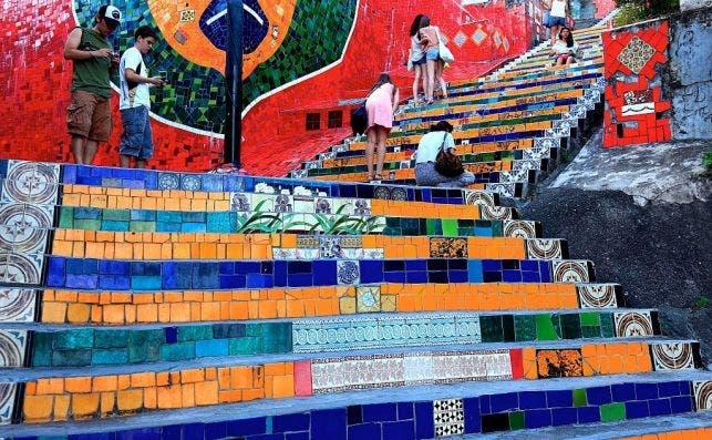 Escaleras de Jorge Selaron. Foto Getty Images