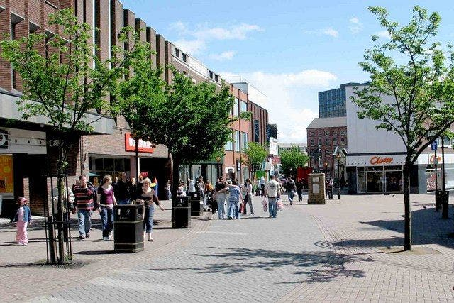 Hanley stoke on trent city centre. Foto Wikimedia
