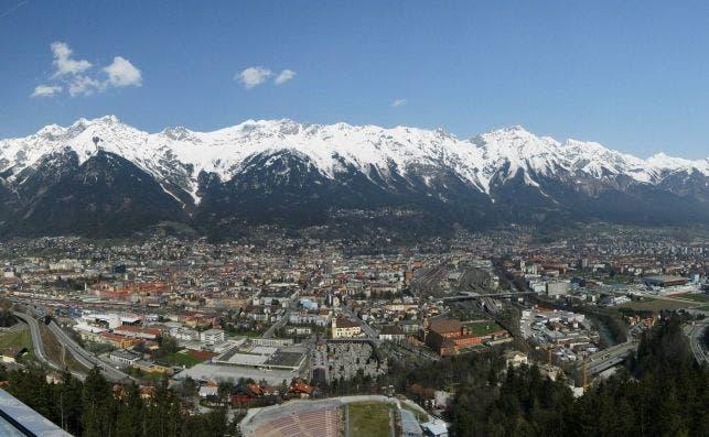 Innsbruck Panorama Nordkette