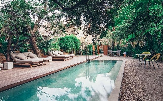 Jardín del hotel boutique Can Bordoy Grand House & Garden