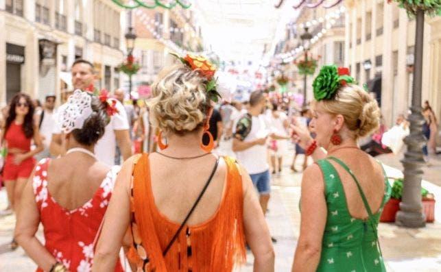 La Calle Larios en La feria de Malaga 2018. Foto de Bo Saldana.