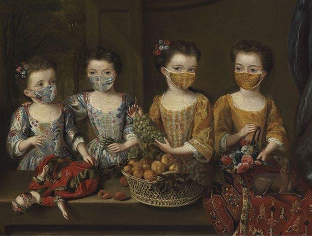 Las hijas de Sir Matthew Decker de Jan van Meyer  Foto Museo Fitzwilliam