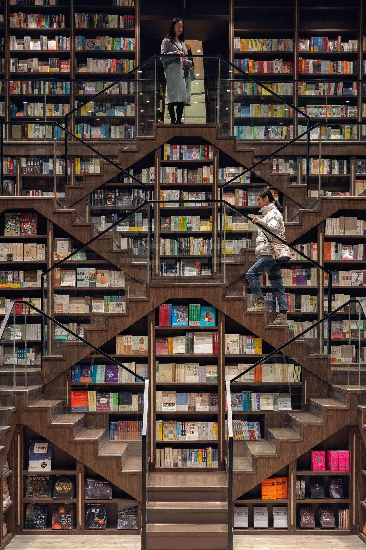 Librería Chongqing Zhongshuge. Foto X + Living